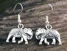 Fatto A Mano Tibetano in Argento Tibetano Elefante Orecchini, orecchini d'argento + Sacchetto da Regalo