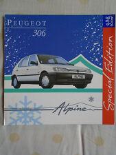 Peugeot 306 Alpine Special Edition brochure Jan 1994