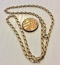 Lovely Ladies 9 Carat Gold Necklace Chain - 17 inch
