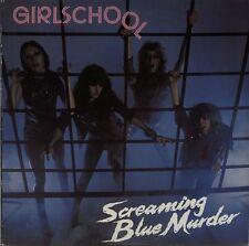 GIRLSCHOOL Screaming Blue Murder 1982 UK vinyl LP + INSERT EXCELLENT CONDITION