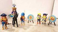 Playmobil 5 Figuren - Ritter Knight chevalier 騎士 - Bogen & Armbrust Truppe Prinz