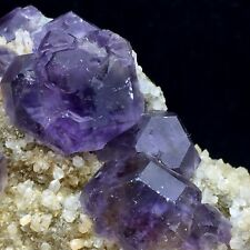 513g Natural Clear Purple Fluorite Mineral Crystals from Fujian,NO WATER NO OIL!