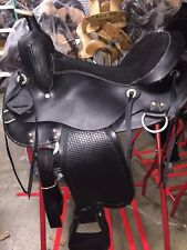"TN Saddlery 17"" Gaited Western Saddle ""Bedford""  Black"