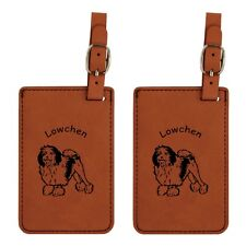 L3508 Lowchen Luggage Tags 2 Pk Free Shipping  200 Breeds Available