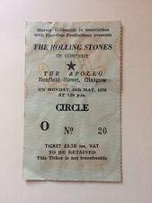 Rolling Stones Billy Preston May 1976 Concert Ticket Glasgow UK Original