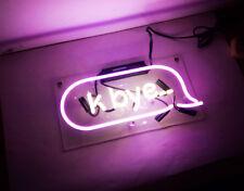 """"""" K-Bye """" Home Bed Room Decor Neon Sign Light Beer Bar Pub Lamp Led Handmade Art"""