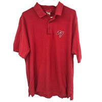 Tampa Bay Buccaneers Mens XL Red Polo Shirt Adult NFL Football