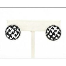 Silver Houndstooth Earrings