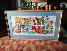Christmas Embroidery Picture - Seasons Greetings  *stunning*