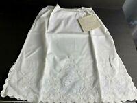 VTG 60s White Half Slip Lace Trim Petticoat Lingerie Underskirt Underwear Small
