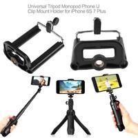 Universal Tripod Monopod Phone U Clip Mount Bracket Holder For iPhone 6S 7 Plus