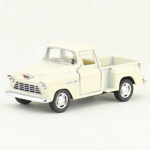 1:32 1955 Chevrolet Stepside Pickup Truck Model Car Diecast Toy Pull Back Kids