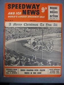 SPEEDWAY & ICE NEWS 21st December 1955 Speedway/Ice Hockey Magazine