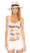 WILDFOX Made in Los Angeles DRIVE THRU Tank Top FEED ME. Arizona Blush ( L )