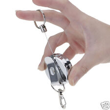 Retractable 4cm Solid Metal High-elastic Telescopic Wire Rope Keyring Key Chain