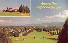 KALISPELL, MT Montana  BUFFALO HILL GOLF CLUB~Clubhouse~Golfers on No 7 Green