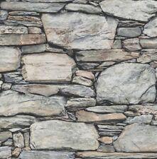 Rasch Textil Vlies Tapete Reclaimed 022304 Bruchstein Stein Mauer Optik grau