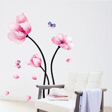 New Fasion Flower Lotus DIY Wall Art Decal Decor Room Sticker Vinyl Paper Home