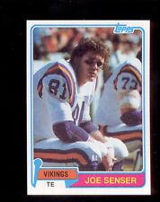 1981 Topps JOE SENSER Minnesota Vikings Rookie Card