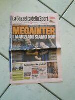 GAZZETTA DELLO SPORT DEL 21/04/2010 - MEGA INTER - I MARZIANI SIAMO NOI