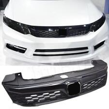 Black Sport Front Grill Bumper Honeycomb Mesh Grille For Honda Civic 2012-2013 h