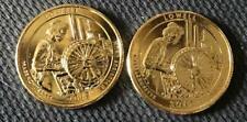 2019 P&D 24K GOLD LAYERED LOWELL (MASSACHUSETTS) ATB 2 COIN QUARTER SET