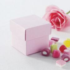 Rose Pâle faveur boîtes avec couvercles Pack de 10