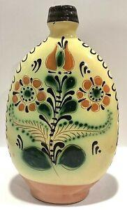 KARCOG Hungarian Folk Art Pottery Liquor Bottle - Traditional - Juried