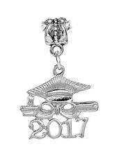 2017 Graduate Cap Diploma Graduation Gift Dangle Bead for Euro Charm Bracelets