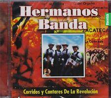 Los Hermanos Banda Corridos y cantares de la Revolucion CD New Nuevo sealed