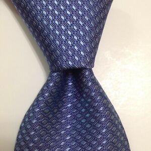 ROBERT TALBOTT Best of Class Silk Necktie ITALY Luxury Geometric Blue NWT $155
