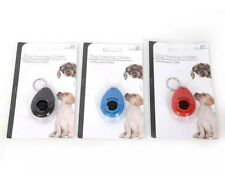 Pet Dog Puppy Training Keyring Clicker Trainer Obedience Training Aid Clicker