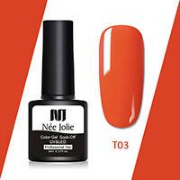 Smalto colore rosso per lampade UV ricostruzione Unghie Manicure nail art