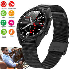 Touch Screen Business Smart Watch Phone Heart Rate Waterproof for Androd iPhone