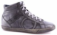 Men's High Top Sneakers Shoes PLAYHAT Leather Grey Vintage Exclusive Cork Fusbet