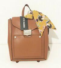 Steve Madden  Cognac Brown Leather Backpack Bag New