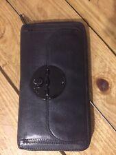 Mimco Wallet Travel Black Turnlock Zip