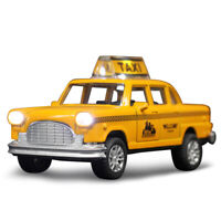 New York Taxi Cab 1:36 Scale Car Model Alloy Diecast Toy Vehicle Yellow Gift Kid