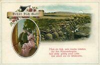 Prima guerra mondiale - Militare tedesco innamorato e soldati in battaglia