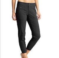 Athleta Activewear S/438906 Solid Black Cropped Trekkie Jogger Pants Women's 14