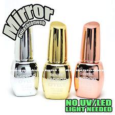 SANTEE 3 Pcs Color Mirror Effect Metallic No UV LED Nail Polish Bold Lacquer
