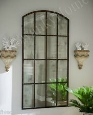 "Extra Large Antiqued WINDOW Arch MIRROR Wall Leaner 82"" Oversize Horchow Neiman"