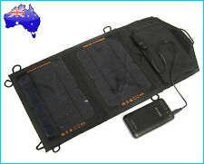 7W Portable Solar Panel Pack+ 7200mAh Power Bank Mobile Charger External Battery