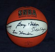 George Mikan Les Harrison Dolph Schayes Bobby Wanzer Rochester Royals LA Lakers