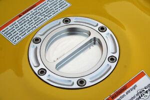Silver CNC Billet Gas Fuel Cap 2008 2009 2010 2011 Kawasaki Ninja 250 250R EX250