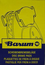 BARUM Original Bremsbeläge Belagsatz Opel Astra G ua. Bj.98-    BA2197