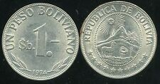 BOLIVIE   1  peso bolivianos  1974  ( bis )