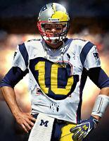 "Tom-Brady - University Of  Michigan New England Patriots 18""x 24"" Poster"
