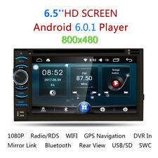 "6.2"" HD Autoradio Android 6.0 Car 2DIN DVD GPS Player Bluetooth WIFI Mirror IT"