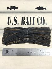 Bass Jig Skirts Living Rubber Lot Of 10 Color Black And Pumpkin